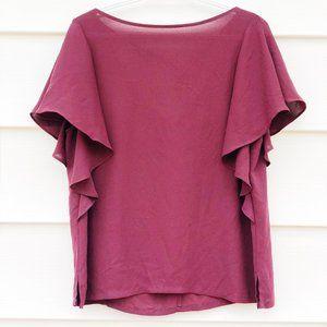 LOFT flowy maroon blouse